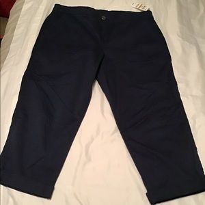 Style & Co Crop Pants Navy Blue NW Tags